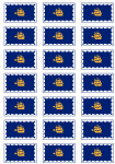 Quebec City Flag Stickers - 21 per sheet